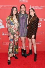 Danielle Haim, Este Haim and Alana Haim,  in Gucci @  2018 MusiCares 'Person of the Year' Gala