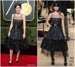 Alessandra Mastronardi In Chanel – 2018 Golden Globe Awards