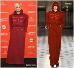 Andrea Riseborough In Vetements  @ 'Mandy' Sundance Film Festival Premiere