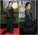 Angelina Jolie  In Atelier Versace  @ 2018 Golden Globe Awards