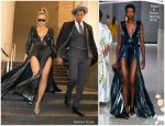 Beyonce In Ralph & Russo   @  2018 Roc Nation's 2018 Grammys Brunch