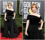 Christina Hendricks In Christian Siriano – 2018 Golden Globe Awards