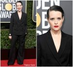 Claire Foy In Stella McCartney  @ 2018 Golden Globe Awards