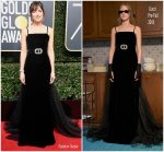Dakota Johnson In Gucci – 2018 Golden Globe Awards