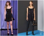 Dakota Johnson In Versace  @ The Tonight Show Starring Jimmy Fallon