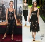 Elsa Pataky  In Dolce & Gabbana  @ '12 Strong'  New York Premiere