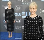 Emilia Clarke  In Dolce &  Gabbana  @ 2018 Critics' Choice Awards