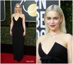 Emilia Clarke  In  Miu Miu  – 2018 Golden Globe Awards