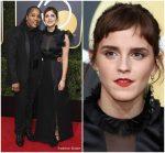 Emma Watson In Ronald van der Kemp @ 2018 Golden Globe Awards