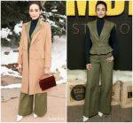 Emmy Rossum  In Oscar De La Renta  @ IMDB Studio  At  2018 Sundance Film Festival