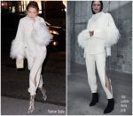 Gigi Hadid In Sally LaPointe  @ Out In New York City