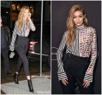 Gigi Hadid in Versace @ 'Making a Model with Yolanda Hadid' New York  Premiere