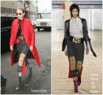 Gigi Hadid In  Vivienne Westwood – Out In New York