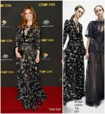 Isla Fisher  In  Monique Lhuillier  @ 2018 G'Day USA Los Angeles Black Tie Gala