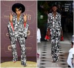 Janelle Monae In Christian Cowan @ Warner Music Group Hosts Pre-Grammy Celebration