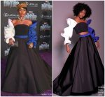 "Janelle Monáe  In Christian Siriano  @  ""Black Panther"" LA Premiere"