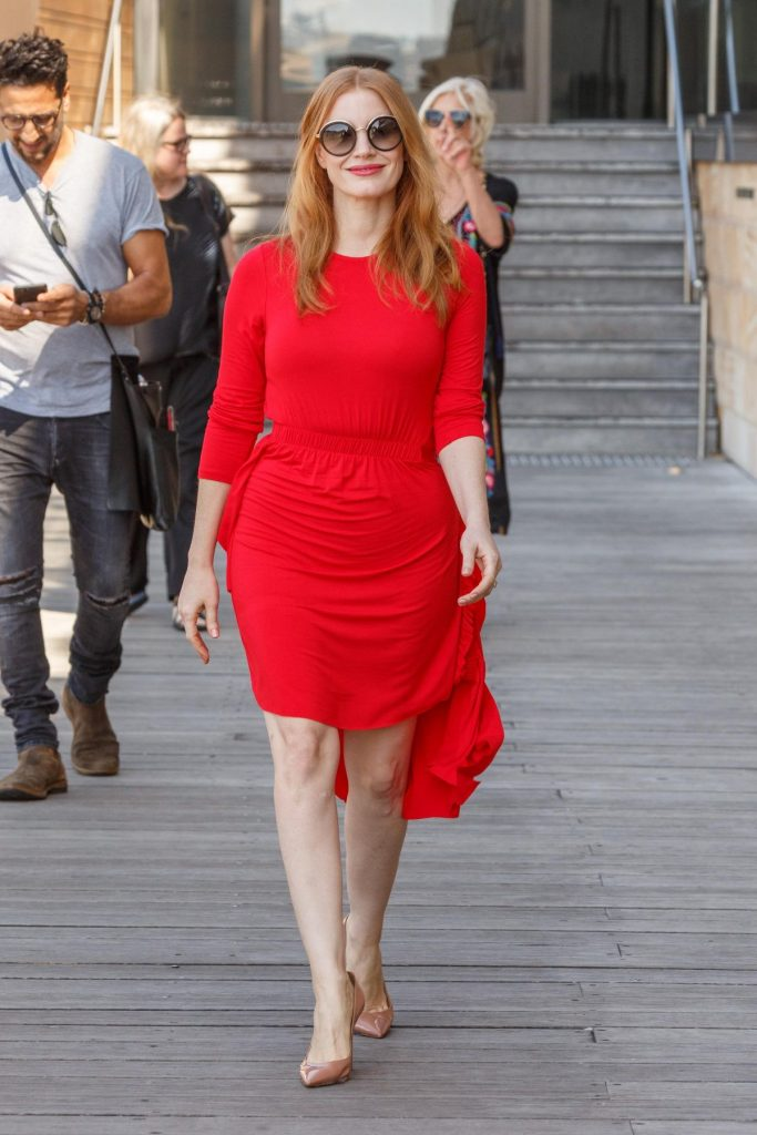 jessica chastain in preen line    u2018molly u2019s game u2019 sydney photocall