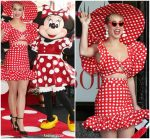 Katy Perry  In Christian Siriano   @  Minnie Mouse  Star on the Hollywood Walk of Fame