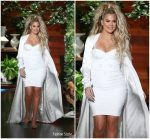 Khloe Kardashian In Cushnie et Ochs & August Getty Atelier  @ The Ellen DeGeneres Show