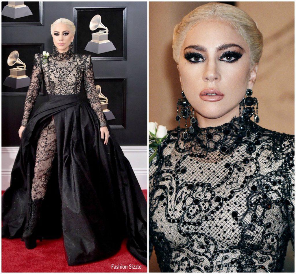 Lady Gaga In Armani Privé @ 2018 Grammy Awards