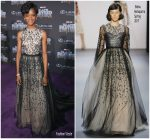 Letitia Wright In Bibhu Mohapatra  @ 'Black Panther' World Premiere