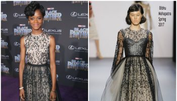 letitia-wright-in-bibhu-mohapatra-black-panther-world-premiere