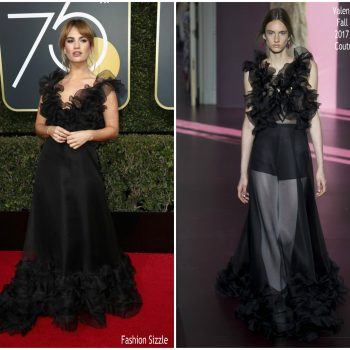 lily-james-in-valentino-2018-golden-globe-awards