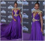 "Lupita Nyong'o In  Atelier Versace  @  ""Black Panther"" LA Premiere"