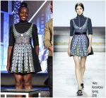 "Lupita Nyong'o In Mary Katrantzou  @ ""Black Panther"" Global ​​Junket Press Conference"