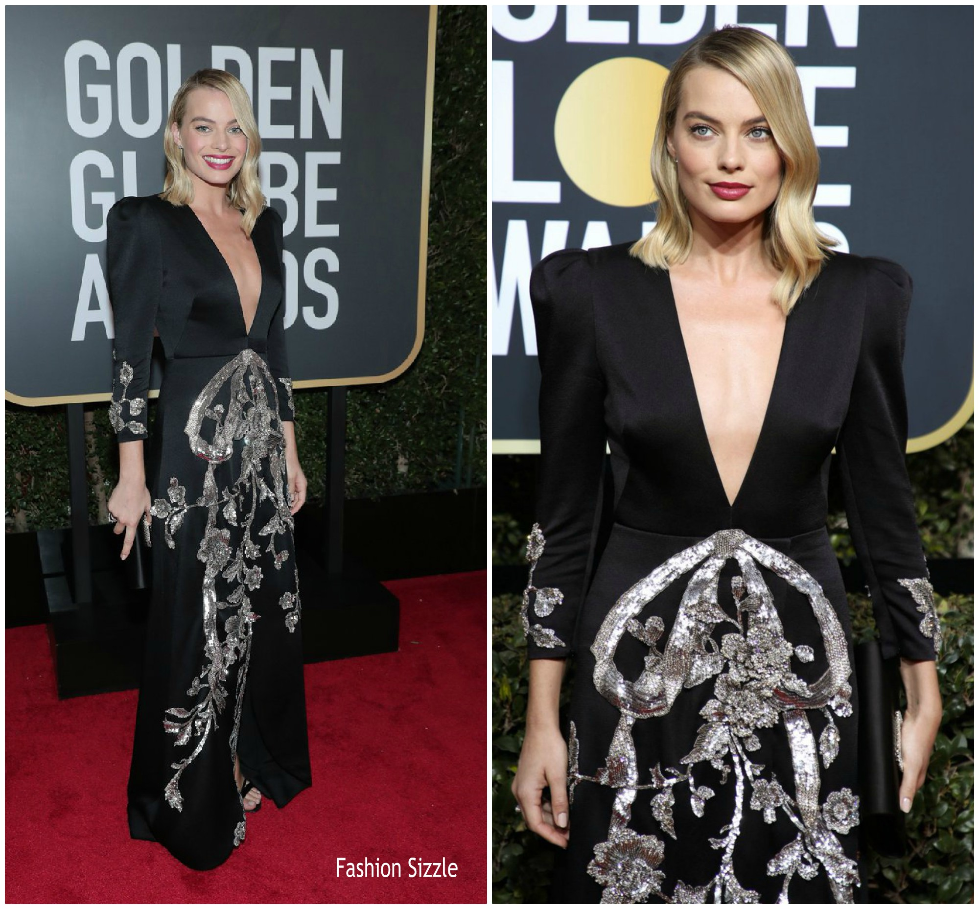 a00030751ab Margot Robbe In Gucci   2018 Golden Globe Awards .