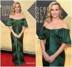 Reese Witherspoon In Zac Posen  @ 2018 SAG Awards