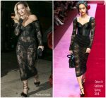 Rita Ora In   Dolce and Gabbana  @ Grammys  2018 After Party