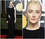 Saoirse Ronan In Atelier Versace – 2018 Golden Globe Awards