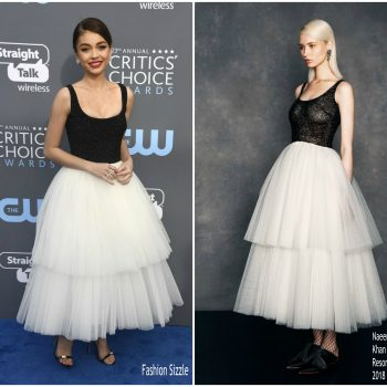 sarah-hyland-in-naeem-khan-2018-crictics-awards