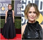 Sarah Paulson In Calvin Klein by Appointment – 2018 Golden Globe Awards