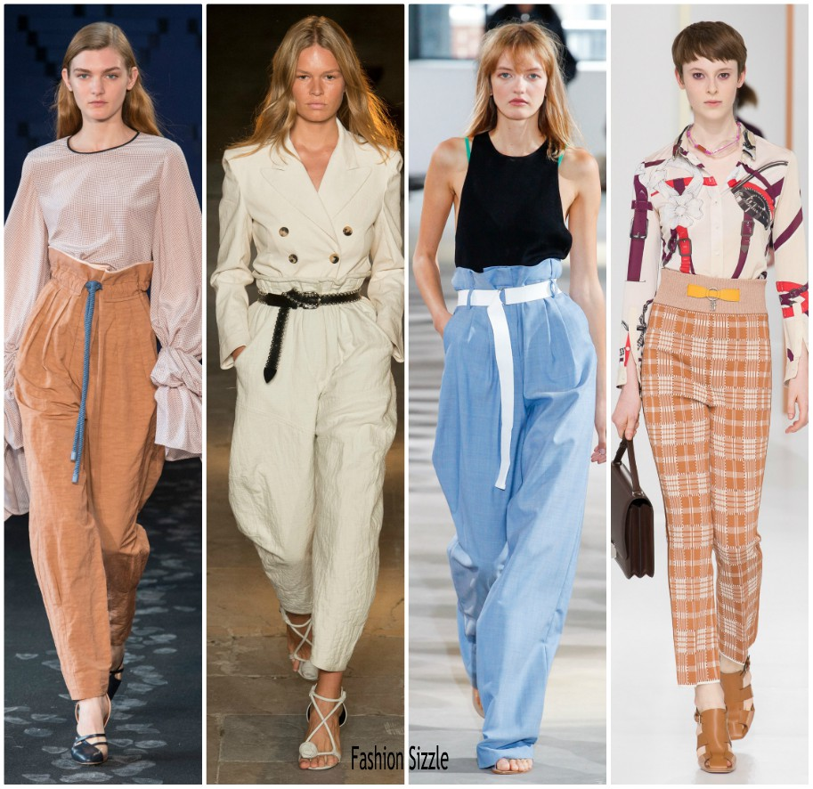 Spring 2018 Runway Fashion Trend High Waisted Trousers Fashionsizzle