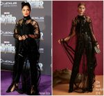 Tessa Thompson  In Elie Saab  @  'Black Panther' World Premiere