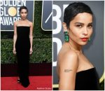 Zoe Kravitz  In Saint Laurent –  2018 Golden Globe Awards