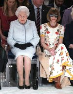 Queen Elizabeth II and Anna Wintour @  Richard Quinn fashion show