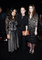Salma Hayek, Julianne Moore , Liv Freundlich, all in Bottega Veneta @  Bottega Veneta Fall 2018