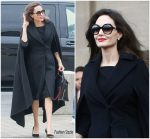 Angelina Jolie In Elie Saab  Out In Paris