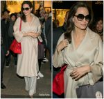 Angelina Jolie In Max Mara Out In  Paris