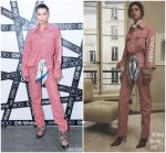 Bella Hadid  In Off White @ Off White c/o Jimmy Choo Collaboration Event