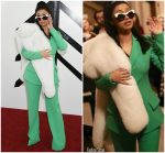 Cardi B in Christian Siriano @  Christian Siriano Fall/Winter 2018