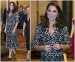 Catherine, Duchess of Cambridge In Erdem  @ The Commonwealth Fashion Exchange Reception
