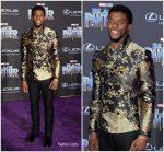 """Chadwick Boseman in Emporio Armani  @ """"Black Panther"""" LA Premiere  Redcarpet"""