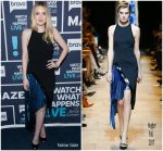 Dakota Fanning In Mugler @  Watch What Happens Live