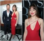 Dakota Johnson In Cushnie et Ochs  @ 'Fifty Shades Freed' LA Premiere