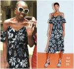 Danai Gurira  In  Edun  @ Black Panther Press  Event in Johannesburg, South Africa
