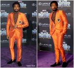 "Donald Glover In  Dolce and Gabbana  @ ""Black Panther"" LA Premiere"